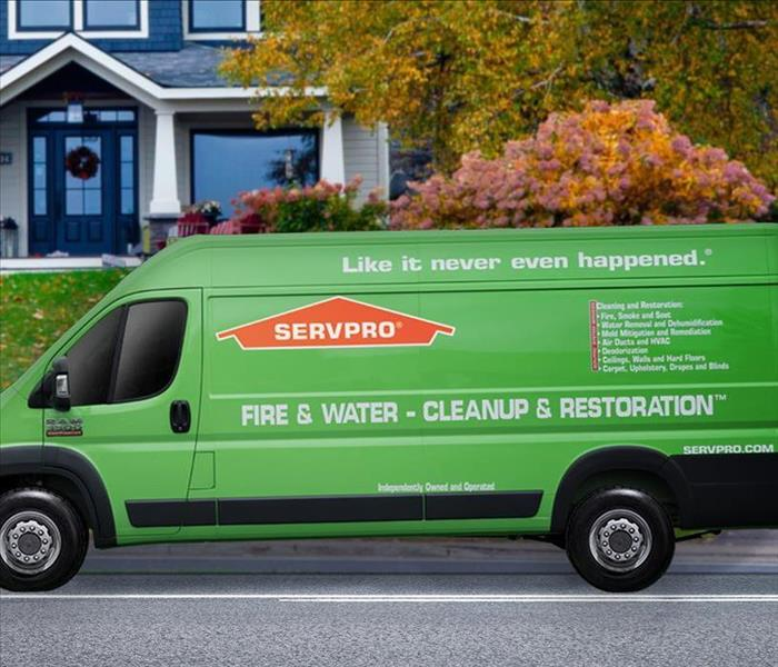Photo of SERVPRO van in front of a property.
